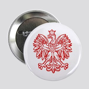 Polish Eagle Emblem Button