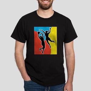 netball player jumping Dark T-Shirt