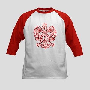 Polish Eagle Emblem Kids Baseball Jersey