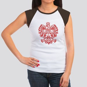 Polish Eagle Emblem Women's Cap Sleeve T-Shirt