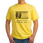 Ben Franklin Taxes Yellow T-Shirt