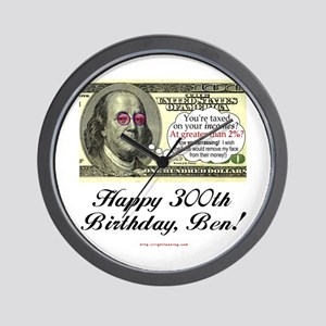 Ben Franklin Taxes Wall Clock