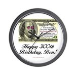 Ben Franklin Taxes Wall Clock