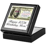 Ben Franklin Taxes Keepsake Box