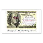 Ben Franklin Taxes Rectangle Sticker