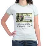 Ben Franklin Taxes Jr. Ringer T-Shirt