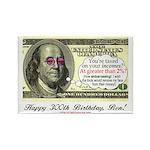 Ben Franklin Taxes Rectangle Magnet