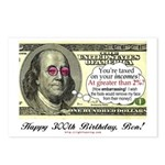 Ben Franklin Taxes Postcards (Package of 8)
