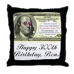 Ben Franklin Taxes Throw Pillow