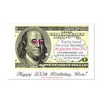 Ben Franklin Taxes Mini Poster Print