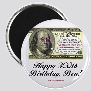 Ben Franklin Taxes Magnet