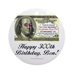 Ben Franklin Taxes Ornament (Round)