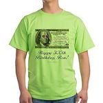 Ben Franklin Taxes Green T-Shirt