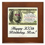 Ben Franklin Taxes Framed Tile
