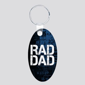 Rad Dad Aluminum Oval Keychain