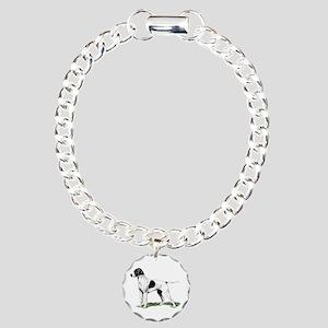 English Pointer Standing Charm Bracelet, One Charm