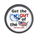 Get the U.N. Out! Wall Clock