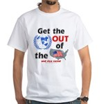 Get the U.N. Out! White Tee