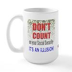 Social Security Illusion Large Mug