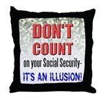 Social Security Illusion Pillow