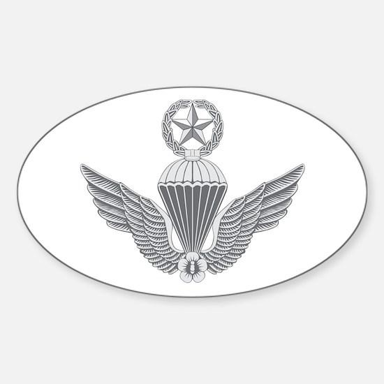 S Korean Jump Wings Master Sticker (Oval)