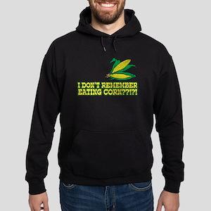 I Don't Remember Eating Corn Hoodie (dark)