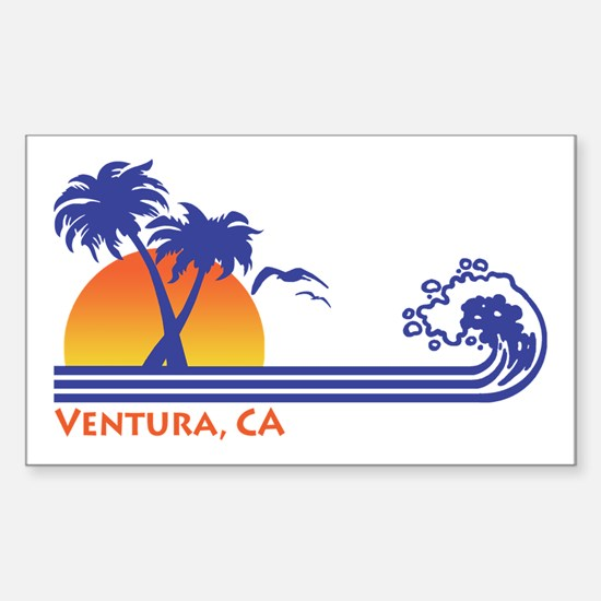 Ventura California Sticker (Rectangle)