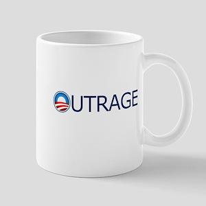 Outrage Blue Text Mug