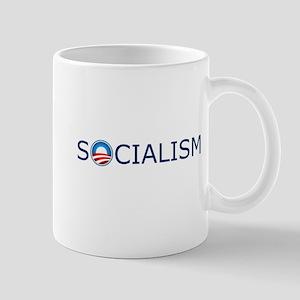 Socialism Blue Text Mug