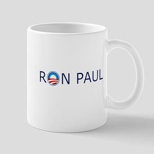 Ron Paul Blue Text Mug