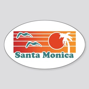 Santa Monica Sticker (Oval)