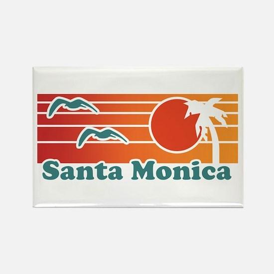 Santa Monica Rectangle Magnet