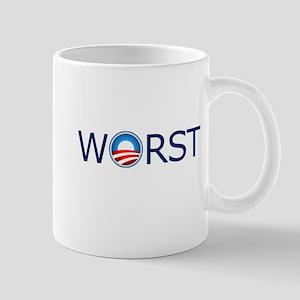 Worst Blue Text Mug