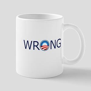 Wrong Blue Text Mug