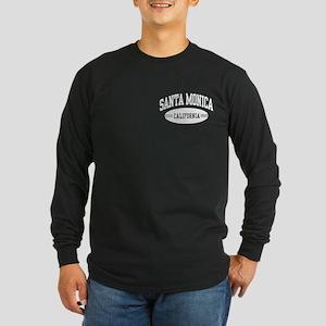 Santa Monica California Long Sleeve Dark T-Shirt