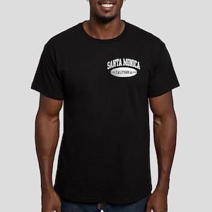 Santa Monica California Men's Fitted T-Shirt (dark