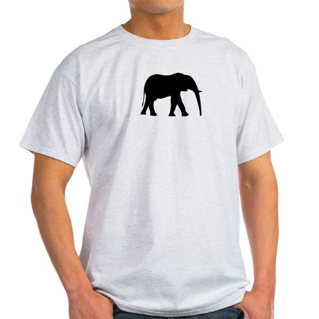 Elephant Silhouette Symbol Light T-Shirt