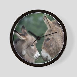 Donkeys wall clock