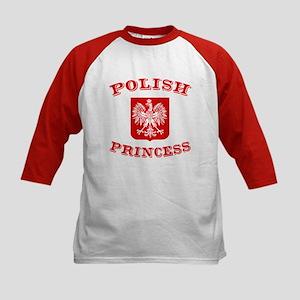 Polish Princess Kids Baseball Jersey