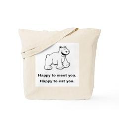 Funny Polar Bear Tote Bag