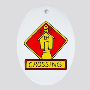 School Crossing Guard Oval Ornament