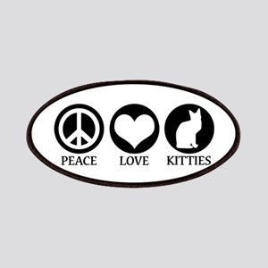 PEACE LOVE KITTIES Patches
