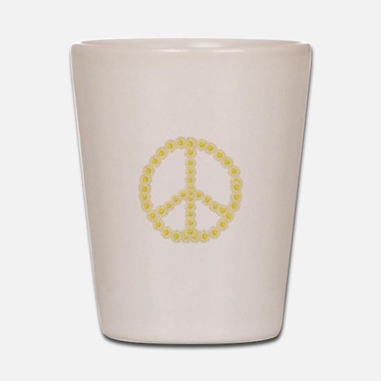 Peace Daisy Chain Shot Glass