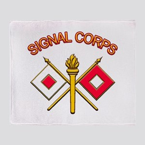Signal Corps Throw Blanket