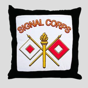 Signal Corps Throw Pillow