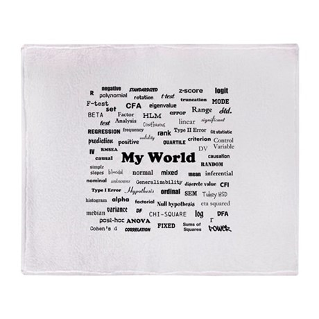 Stats are My World Throw Blanket