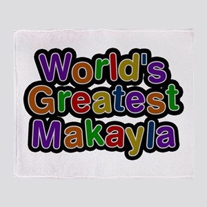 World's Greatest Makayla Throw Blanket