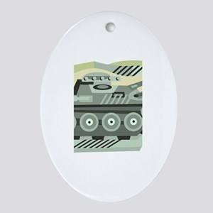 Military1 Oval Ornament