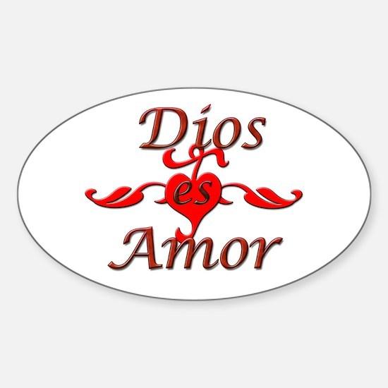 Dios Es Amor Sticker (Oval)
