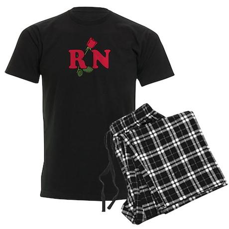 RN Nurses Rose Men's Dark Pajamas